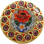 Lovely Micro Mosaic Brooch