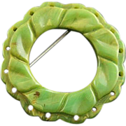 Stunning End Of The Day Bakelite Brooch