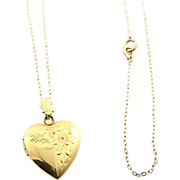 Gold Filled Heart Shaped Locket Necklace