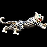 Jomaz Leopard Brooch in Gold