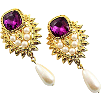Shaill Jhaveri With Elizabeth Taylor for Avon Outstanding Earrings