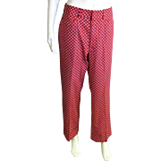 Men's 1960-70's Izod Red Pants