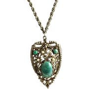 A Splendid 1940's Large Pendent Necklace