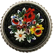 Micro Mosaic Flower Brooch