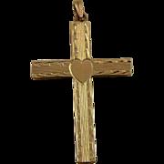 Vintage 10K Gold Cross Pendent