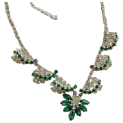Spectacular 1960's Vintage Rhinestone Necklace