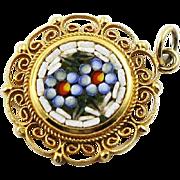 Vintage Italian Mini Mosaic Brooch