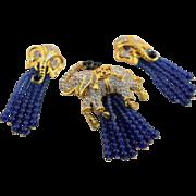 Vintage Elizabeth Taylor Famous Elephant Walk Brooch & Earrings