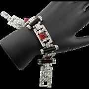 Spectacular Rare Vintage Kenneth Jay Lane Art Deco Bracelet