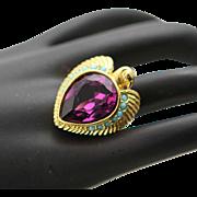 Eye Popping Elizabeth Taylor Egyptian Revival Falcon Ring