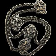 Antique Art Nouveau Calla Lily Metal Sash Or Belt Decoration