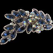 Special Vintage Montana Blue Beau Jewels Brooch