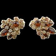 Pretty Vintage Beau Jewels 1950's Rhinestone Earrings