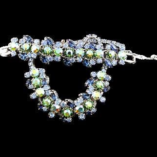 Compelling & Dramatic Vintage Juliana D&E Necklace & Bracelet Demi Parures