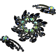 Spectacular Juliana D&E Set With Brooch & Earrings