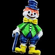 Darling Little Har Enamel Clown Pin