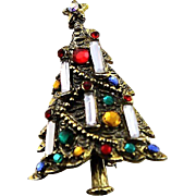 Famous Hollycraft Christmas Tree Brooch Book Piece