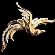 Trifari Alfred Philippe Bird In Flight Brooch