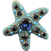 Super Sophisticated Kenneth Jay Lane Starfish Brooch