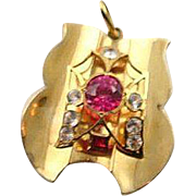 Outstanding 18 K Gold Bench Made Egyptian Pendent OOAK