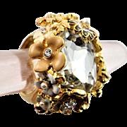 Tremendous Kenneth Jay Lane Enamel Flower Ring