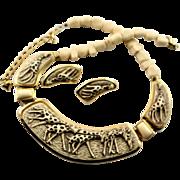 Wonderful Vintage Giraffe Necklace & Earrings Set