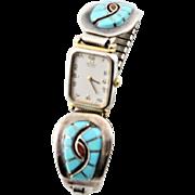 Vintage Native American Signed Watch Bracelet