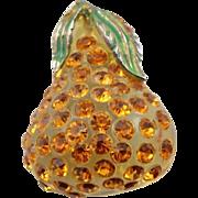 Vintage Forbidden Fruit Pear Brooch