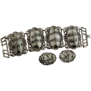 Big Bold & Beautiful Bracelet & Matching Earrings