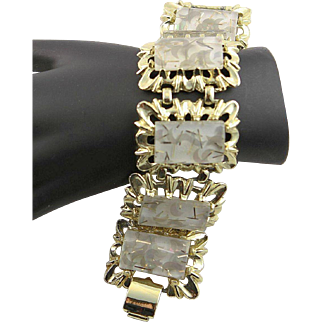 Lucite Gold Confetti Bracelet