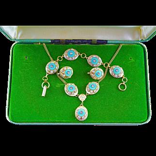 Beautiful Vintage '50's Necklace, Bracelet & Earrings