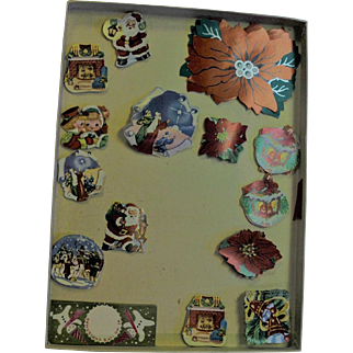 Vintage Box Of Christmas Stickers
