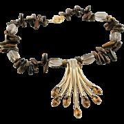 Remake Of A Spectacular Napier Pendent & Semi Precious Gem Necklace