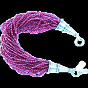 Graceful One Of A Kind Multi Strand Garnet Bracelet By MJG Designs