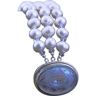 Sophisticated One Of A Kind Designer Made White FW Pearl Bracelet Made By MJG Designs
