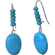 Artisan Designed Natural Turquoise & 14KGF Earrings