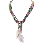 One Of A Kind Show Stopper Design By MJG Designs Made Of Various Colored Tourmaline Necklace