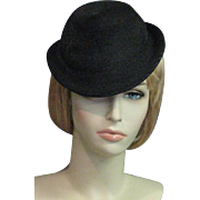Smart Vintage 1920's Black Straw Original By Karo, New York, Montaldo's Hat