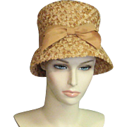 Vintage 1960's Natural Colored Straw Hat