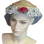 A Lovely Jan Leslie Custom Design Vintage Hat