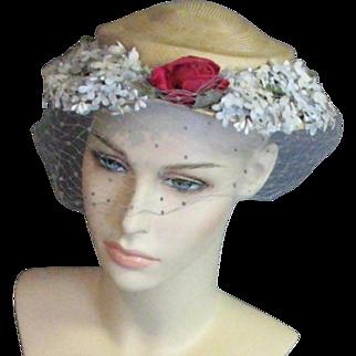 A Lovely Jan Leslie Custom Design Vintage Hat
