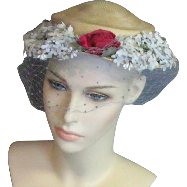 A Lovely Jan Leslie Custom Design Vintage Hat from mjgdesigns on Ruby Lane