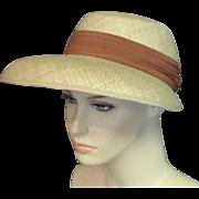 Vintage 1940's Natural Star Chapeau