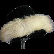 Fabulous Vintage Hat With Fox Trim