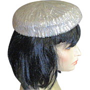 1950's Party Hat With Aurora Borealis Sequins