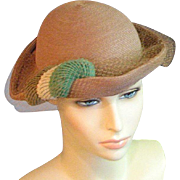Outstanding 1950's Late Colored Straw Hat