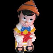 "Vintage 11 1/2"" Plastic Disney Pinocchio Bank"