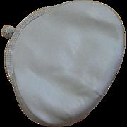Vintage Judith Leiber White Leather Clutch Bag
