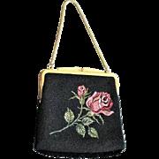 Vintage Peti Point Rose Front & Back Bag Made In West Germany