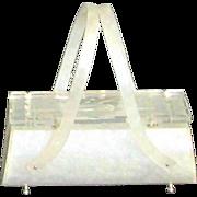Vintage Original Rialto N.Y. Lucite Barrel Bag